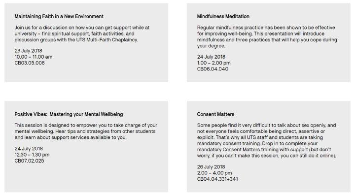 大学迎新周Orientation week   悉尼科技大学
