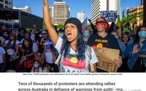澳洲各地爆发抗议游行!数万人上街,人山人海,市区被挤爆!