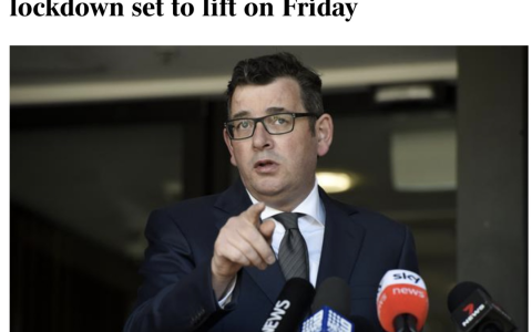 突发!墨尔本下周五解封!州长宣布提前解除更多限制,取消宵禁和公里数限制。